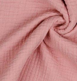 Triple gauze tetra doek oudroze