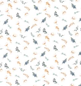 Digitale tricot met takjes katoenplant