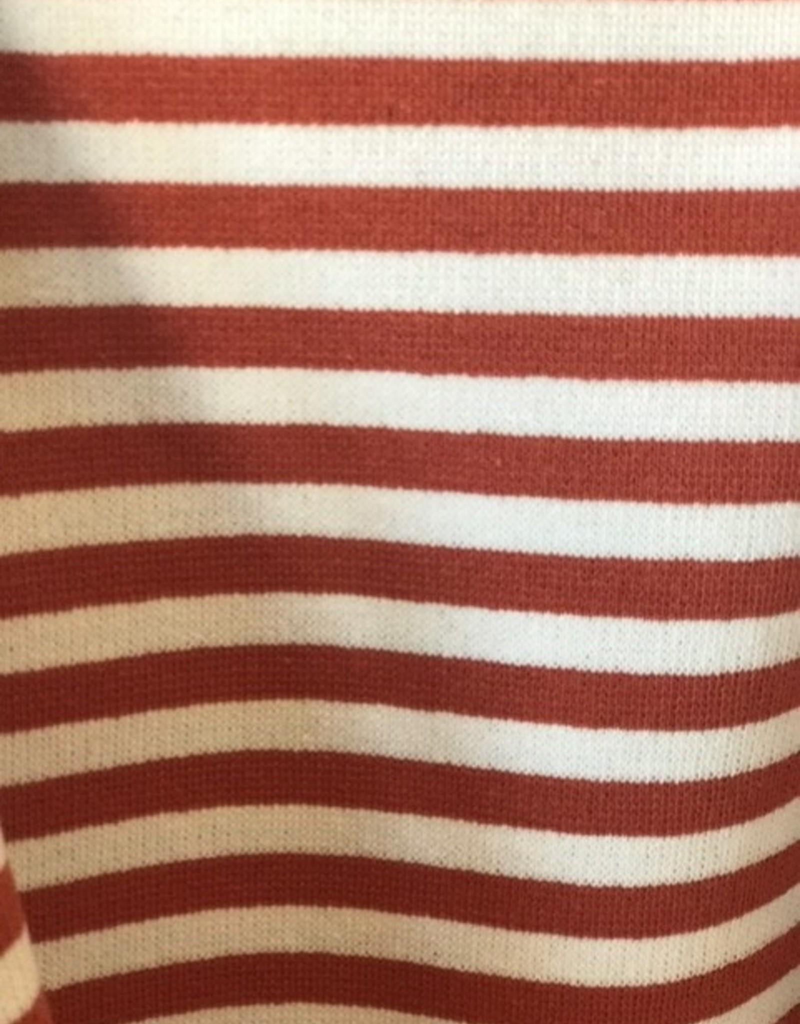 Interlock tricot roest/offwhite gestreept