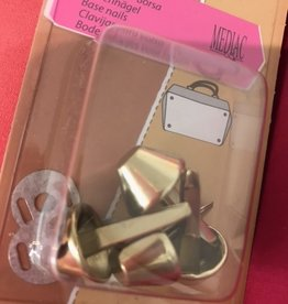 Tassenvoetjes 15mm goud