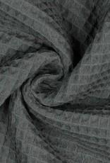 Poppy Wafel katoen taupe grijs