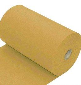Boordstof uni vlak mustard mosterdgeel