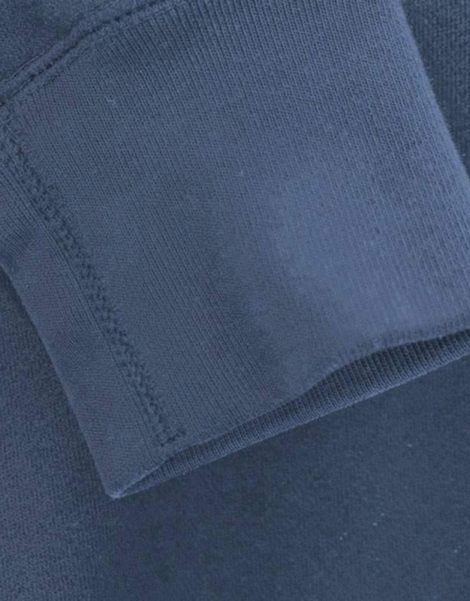 Boordstof uni vlak dark jeans denim