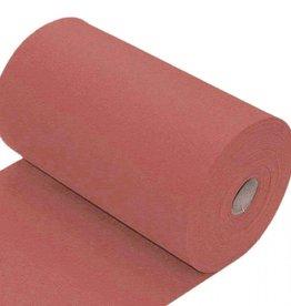 Boordstof uni vlak clay pink donker oudroze