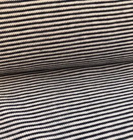 La Maison Victor Breisel gestreept ecru/navy - LMV Lennon T-shirt