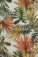 Poppy Digitale canvas linnenlook bladerprint