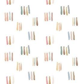 Poppy Digital tricot GOTS watercolours stripes pastel ecru