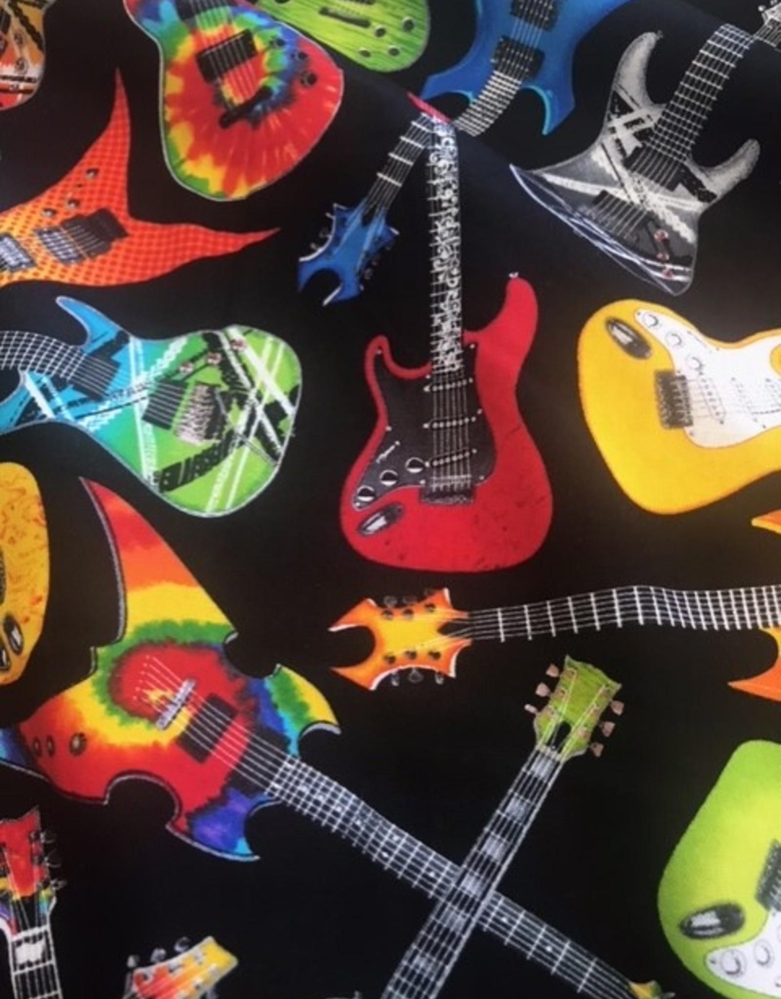 Black fun rock guitar - Timeless Treasures