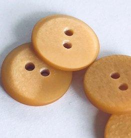Knoop plat gradé okergeel 15mm