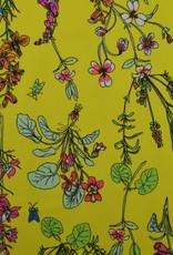 Lycra yellow flowers en bugs