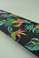 Lycra Ananas zwart