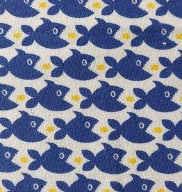 coupon Katoenjersey Hungry Sharks 95x140cm