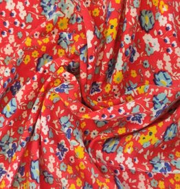 Tencel Jersey Printed Liberty red flowers