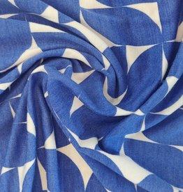 COUPON Tencel Jersey Printed Cobalt Dream 95x160cm