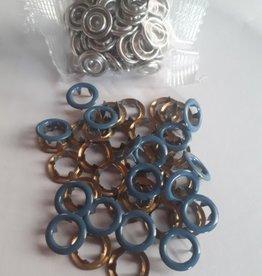 Navulling jersey drukknopen jeansblauw 11mm