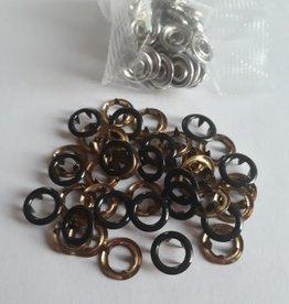 Navulling jersey drukknopen zwart nikkel 11mm