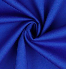 Stretchkatoen met satijnglans kobalt blauw