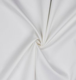 Stretchkatoen met satijnglans wit