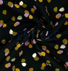 Poppy Pearl Peach gevlekt gold foil zwart