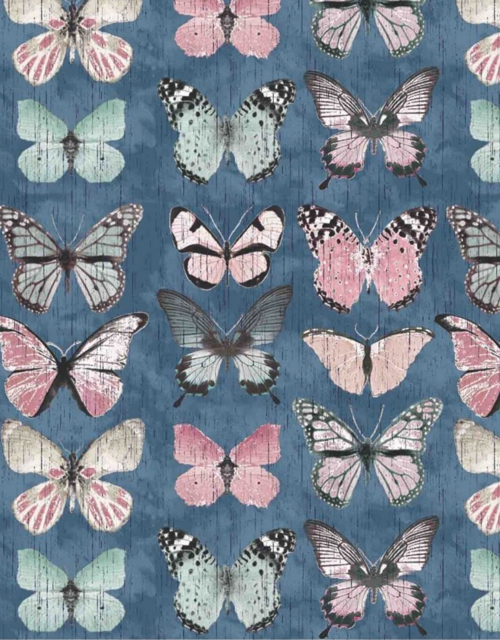 Poppy Digitale canvas Beautiful Butterflies jeans
