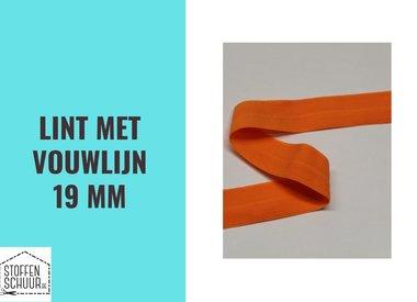 Biais elastisch lint met vouwlijn 19 mm