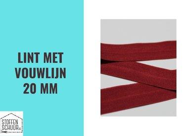 Biais elastisch lint met vouwlijn 20 mm