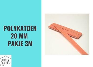 Biais polykatoen 20 mm per pakje 3 m
