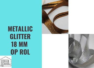Biais metallic glitter 18 mm op rol