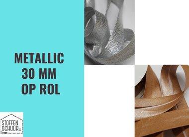 Biais metallic 30 mm op rol