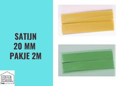 Biais satijn 20 mm per pakje 2 m