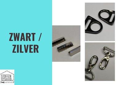 Zilver / zwart