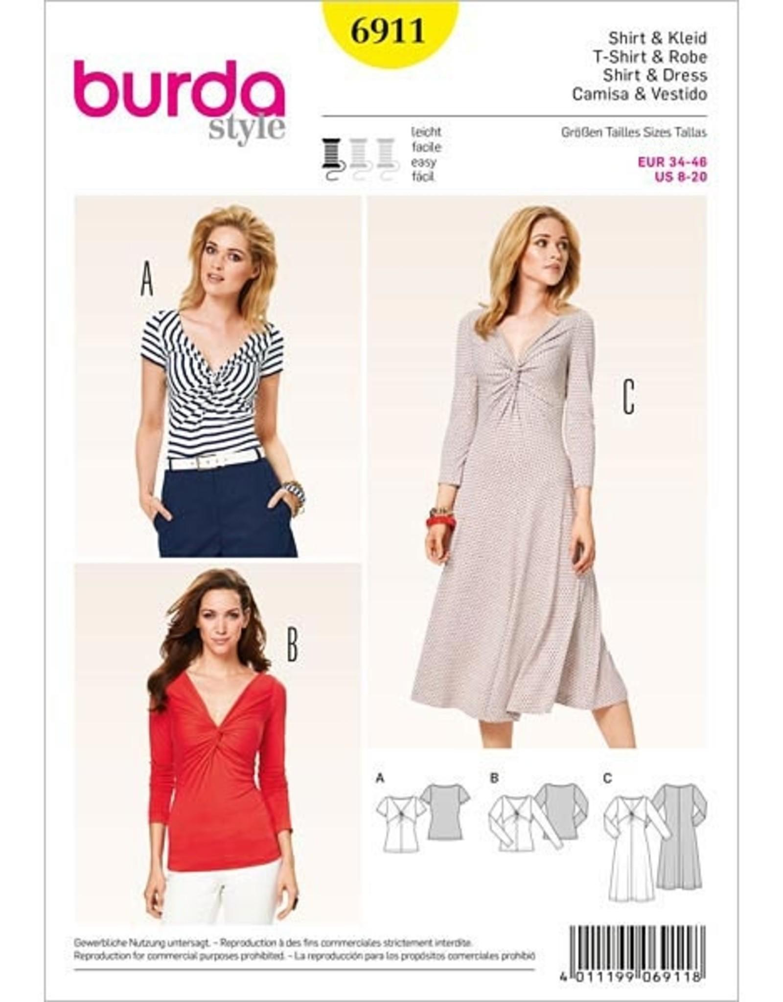 Burda Shirt en jurk 6911 - Burda