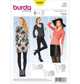 Shirt dames 6848 - Burda
