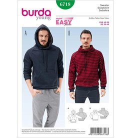 Burda Herensweater 6718 - Burda