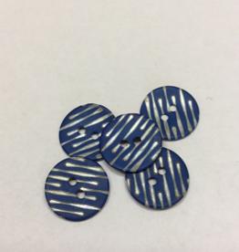 Knoop blauw met parelmoer strepen grootte 24