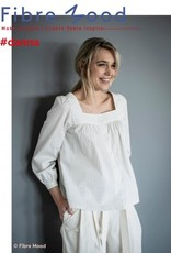 Fibre Mood Stretchkatoen wit met sterren - FM Danna
