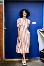 Fibre Mood stretchkatoen gestreept stripes rood/wit - FM Maya