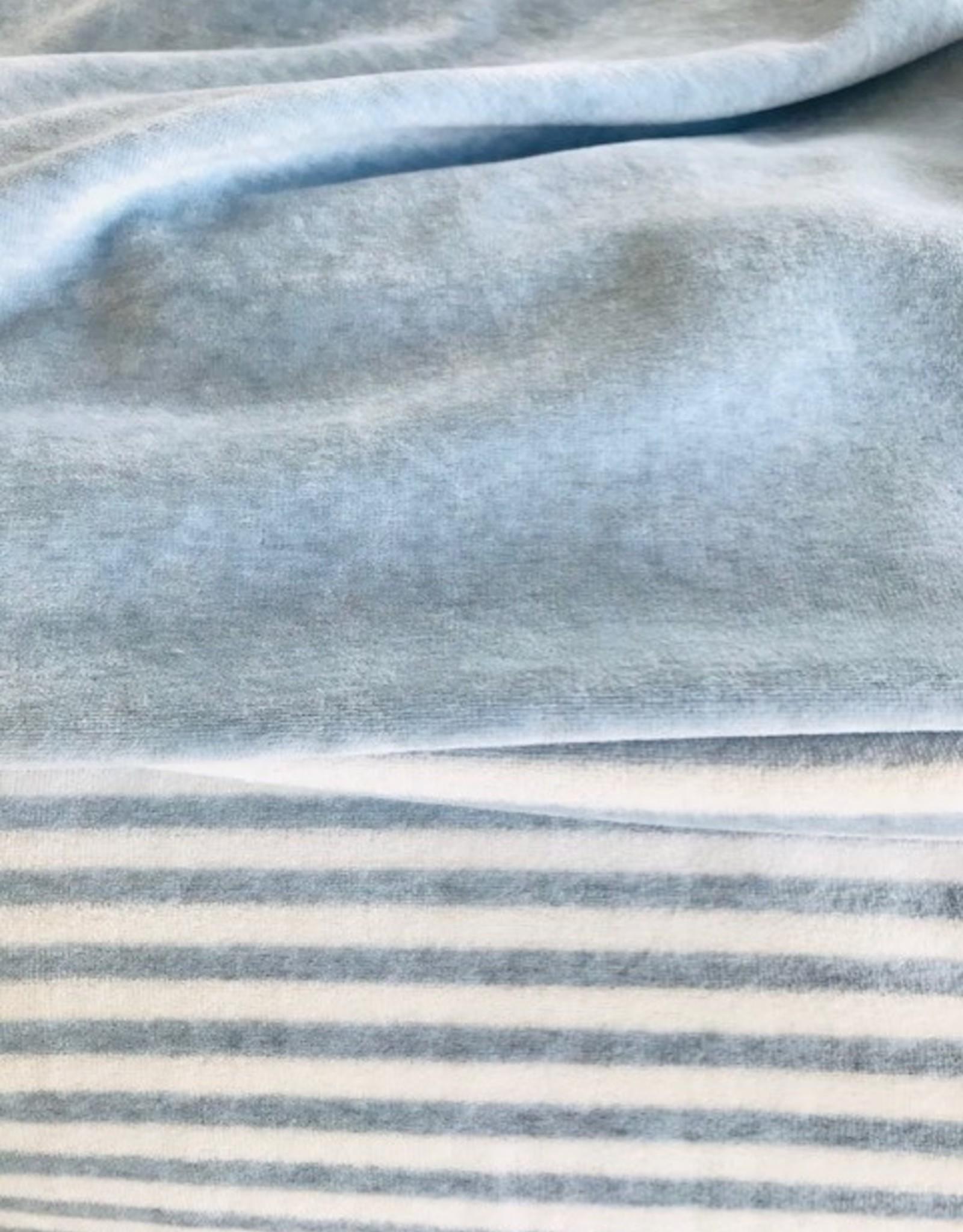 Nicky Velours blauw gestreept