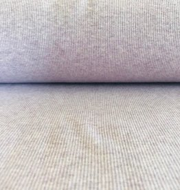 Boordstof met ribbels lila mélange 42cm rondgebreid