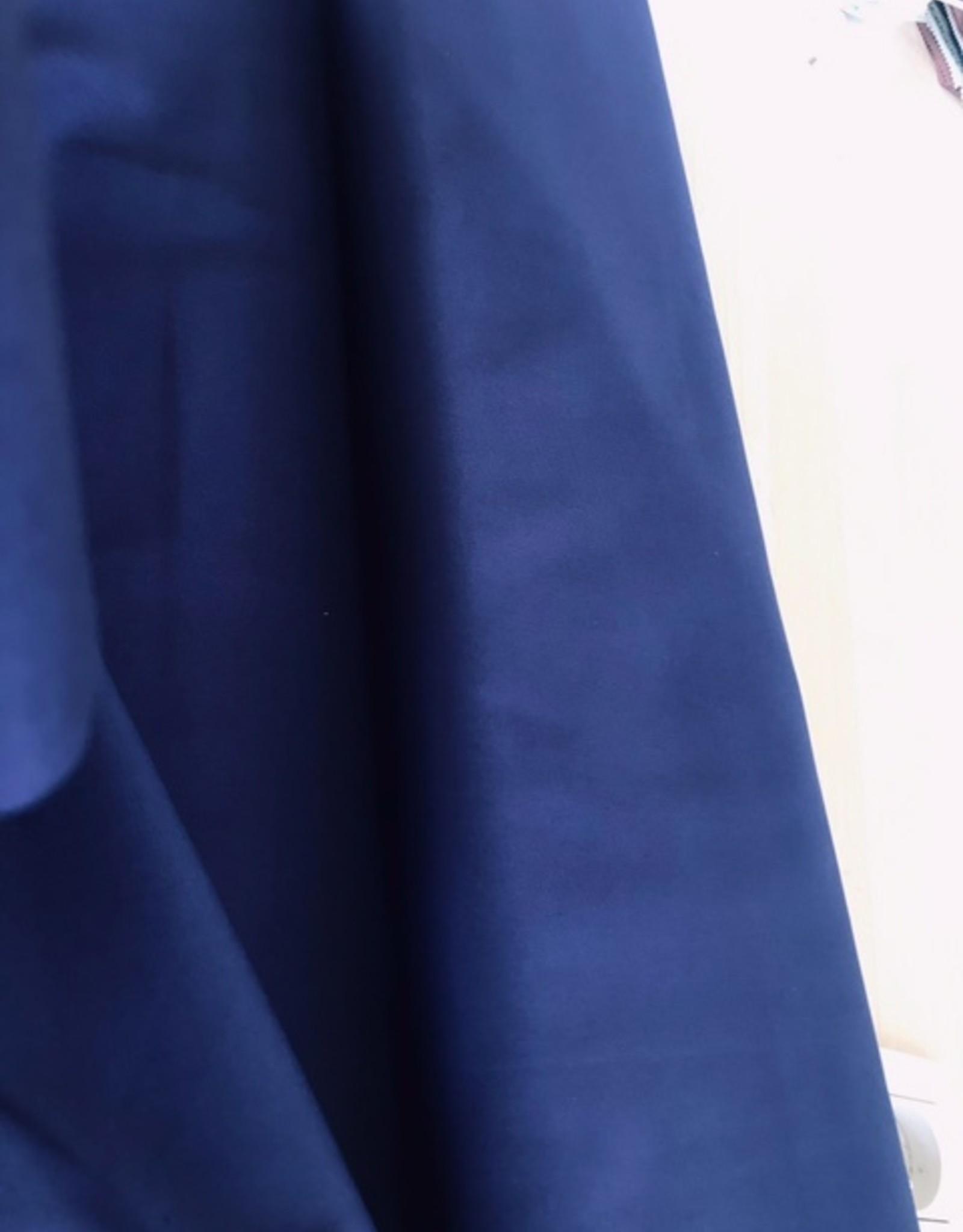 Elastic twill uni donkerblauw