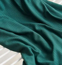 Meet Milk Derby Ribbed Jersey tencel modal - EMERALD