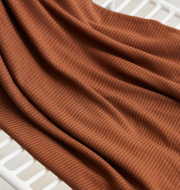 Meet Milk Derby Ribbed Jersey tencel modal - PECAN