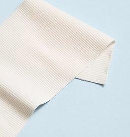 Mind the Maker Organic 2x1 rib boordstof - Creamy White