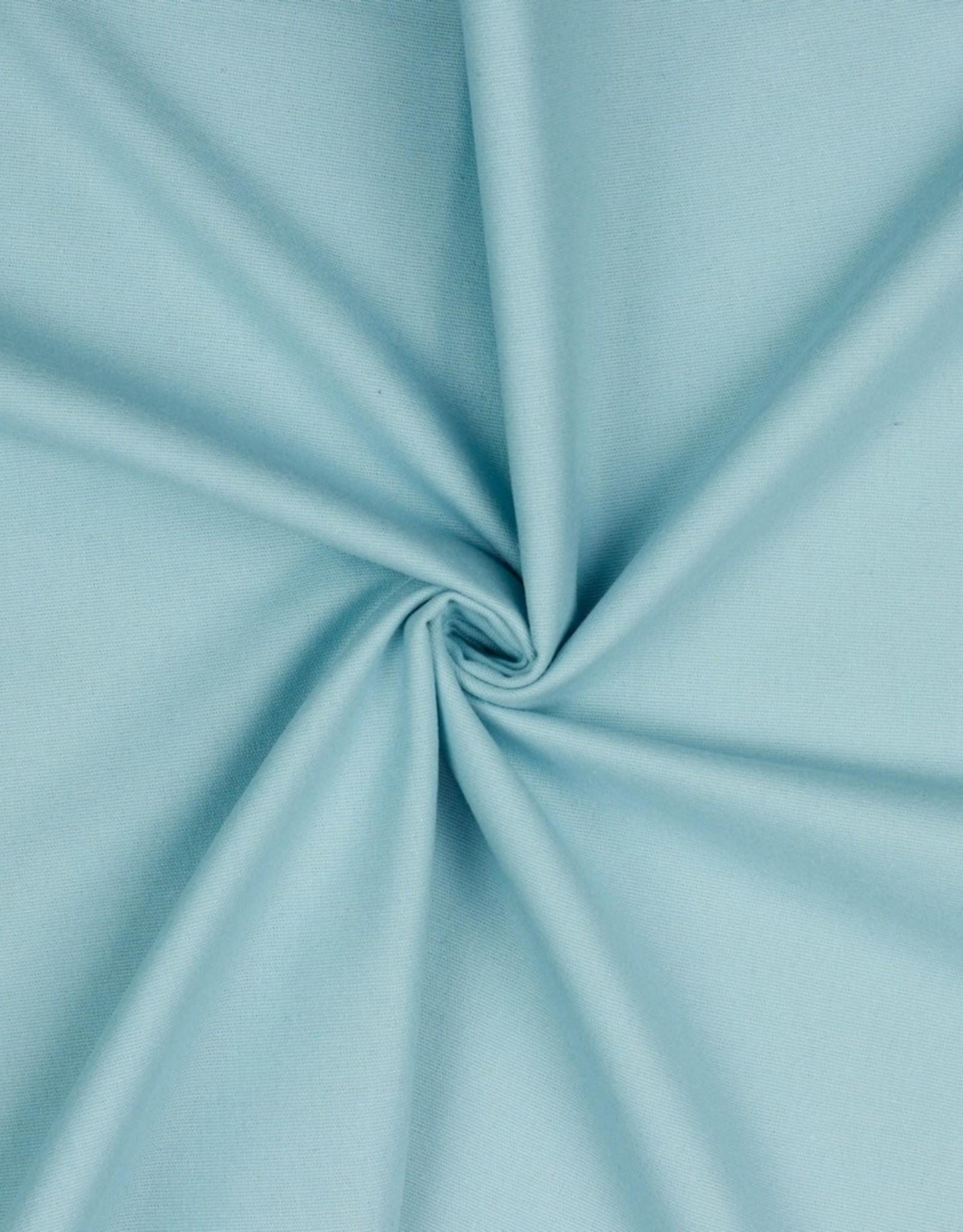 molton flanel uni lichtblauw