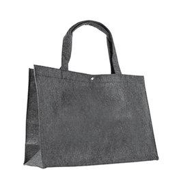 Vilten tas grijs groot 45x31x14cm