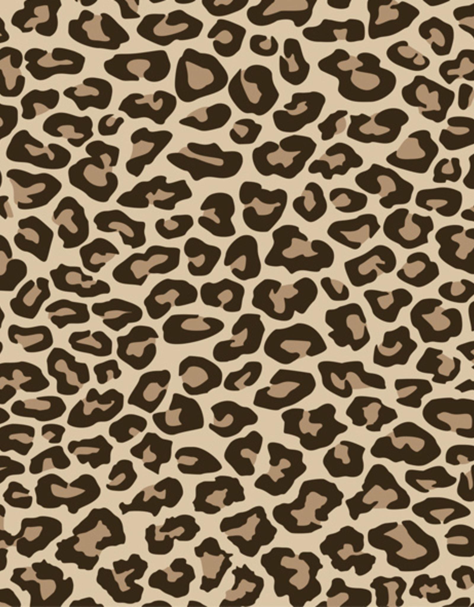 Siser Flexfolie leopard tan print bruin per 10cm