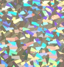 Flexfolie holografisch Crystal Zilver  per 10cm