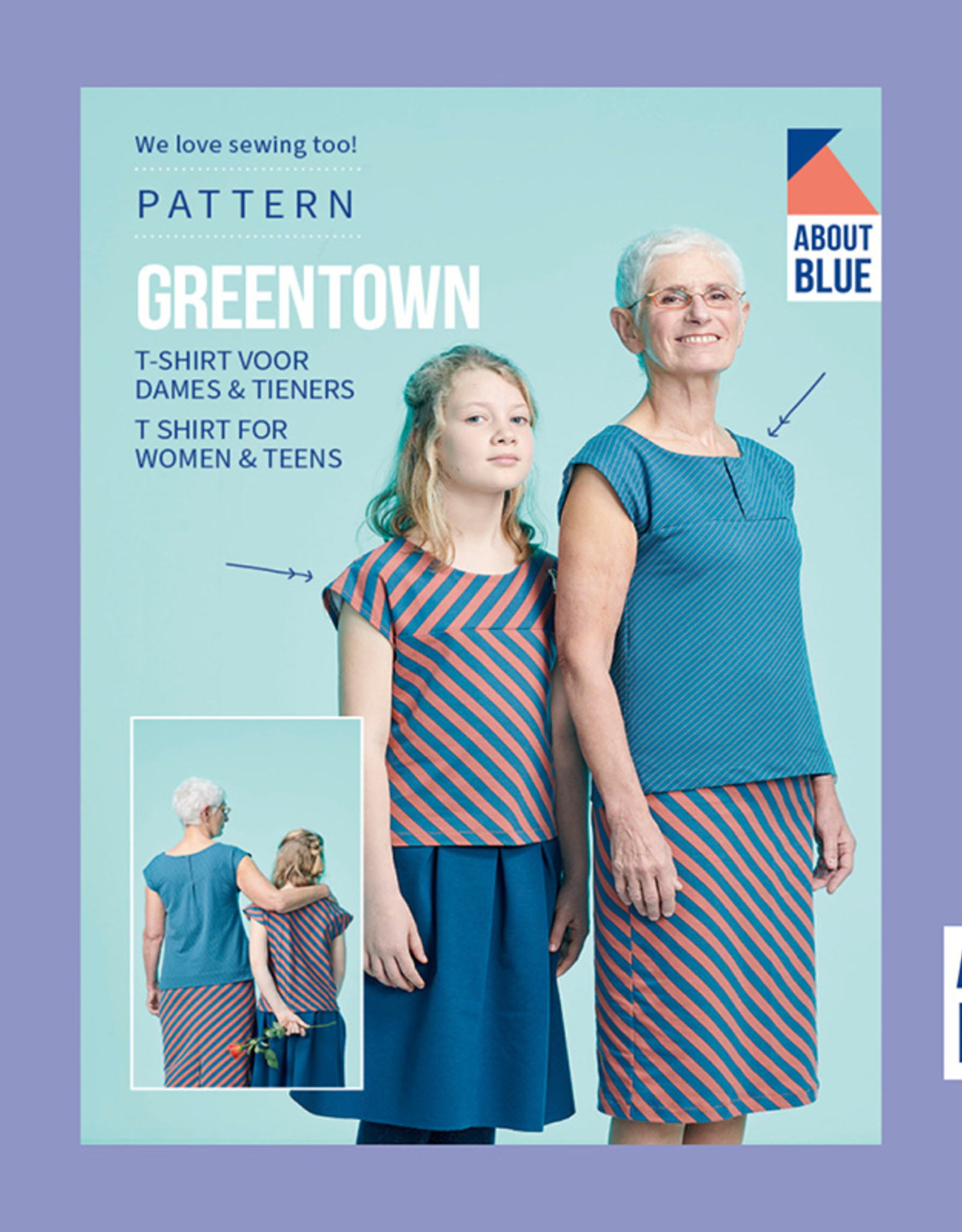 About Blue Fabrics Greentown T-shirt voor dames & tieners