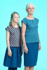 About Blue Fabrics Sunday Mood rechte rok met split