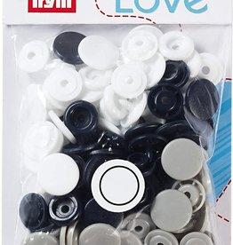 Prym Prym - love drukknopen wit/zwart/grijs - 393 008